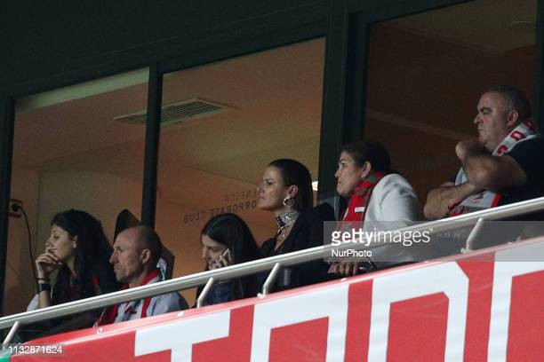 Dolores Aveiro and Elma Aveiro Portugal's forward Cristiano Ronaldo mom and sister attend the UEFA EURO 2020 group B qualifying football match...