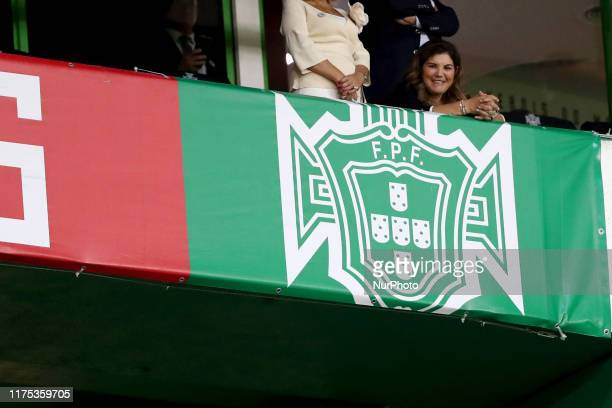 Dolores Aveiro mother of Portugal's forward Cristiano Ronaldo looks on during the Euro 2020 qualifier football match between Portugal and Luxembourg...