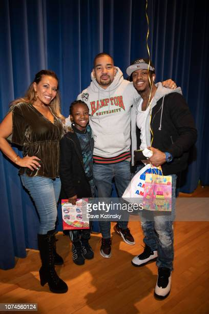 Dolores Catania and DJ Envy arrive at Cesar DJ Envy's 2018 Holiday Toy Giveaway on December 21 2018 in Paterson New Jersey