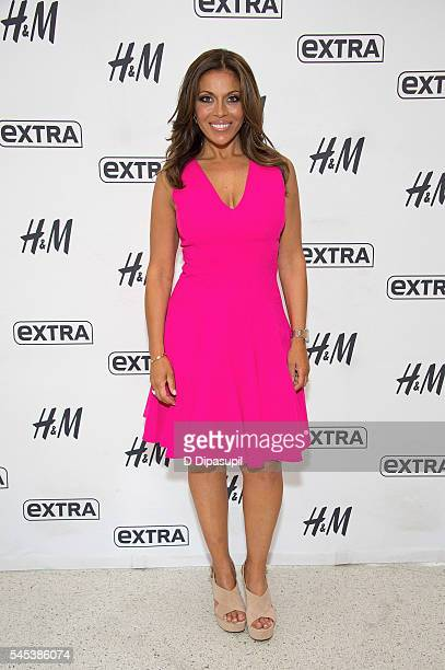 Dolores Catania visits Extra at their New York studios at HM in Times Square on July 7 2016 in New York City