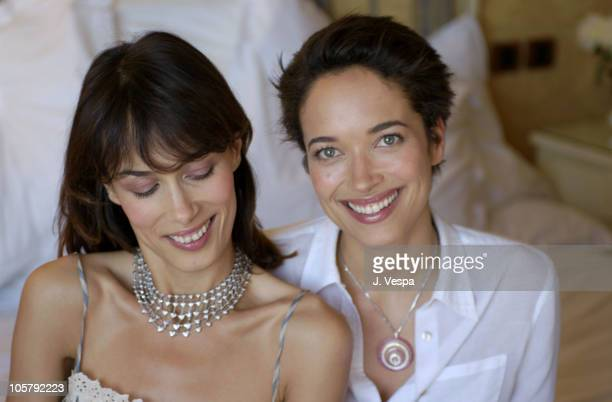 Dolores Chaplin and Carmen Chaplin during 2003 Cannes Film Festival Dolores and Carmen Chaplin Portraits at Chopard Suite at The Majestic Hotel in...