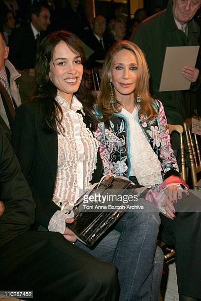 Dolores Chaplin and Marisa Berenson during Paris Fashion Week - Haute Couture Spring/Summer 2006 - Valentino - Front Row at Ecole Nationale des Beaux...