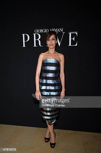 Dolores Chaplin attends the Giorgio Armani Prive HauteCouture Show as part of Paris Fashion Week Fall / Winter 2013 at Palais de Chaillot on July 3...