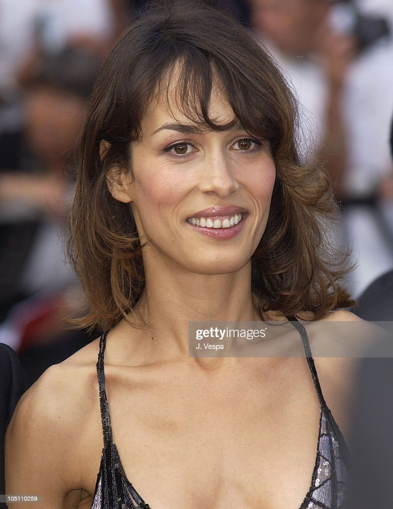 Dolores Chaplin wearing jewelry by Chopard during 2003 Cannes Film Festival - Closing Ceremony - Arrivals at Palais des Festivals in Cannes, France.