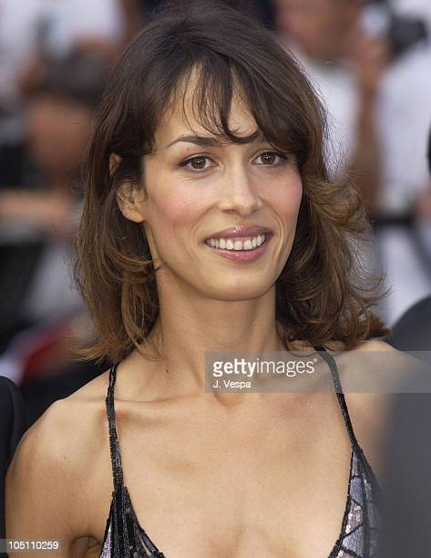 Dolores Chaplin wearing jewelry by Chopard during 2003 Cannes Film Festival Closing Ceremony Arrivals at Palais des Festivals in Cannes France