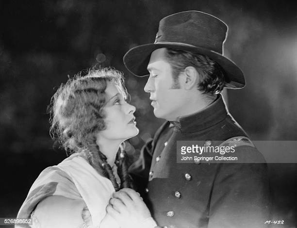 Dolores Costello as Maryland Calvert and Jason Robards as Alan Kendrick in the 1927 silent film The Heart of Maryland