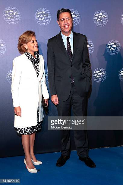 Dolores de Cospedal and Xavier Garcia Albiol attend the '65th Premio Planeta' Literature Award the most valuable literature award in Spain with...
