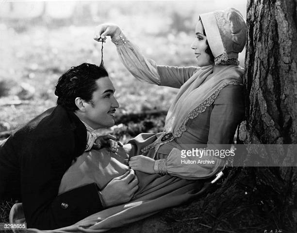 Dolores Del Rio and Roland Drew as they appear in the romantic film 'Evangeline' based on Longfellow's epic poem The film was directed by Edwin...