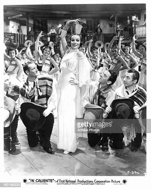 Dolores del Rio as the lead dancer in a scene from the film 'In Caliente' 1935