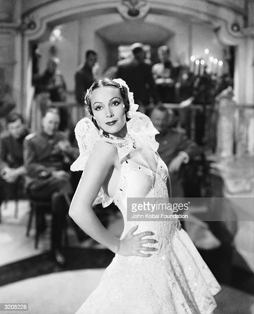 Dolores Del Rio plays exotic German spy Dolores Daria Sunnell in 'Lancer Spy', directed by Gregory Ratoff for 20th Century Fox.