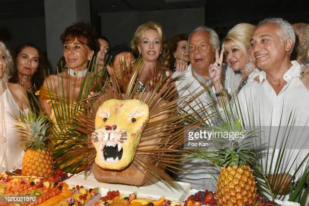 Dolores Dimitri Jeanne d' Hauteserre Camilla de Bourbon des deux Siciles Massimo Gargia Ivana Trump and GianCarlo Cipolla attend the Massimo Birthday...