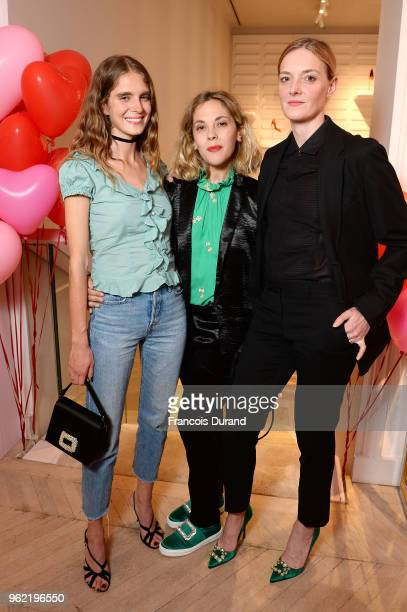 Dolores Dol Alysson Paradis and Kate Moran attend Roger Vivier '#LoveVivier' Book Launch Cocktail on May 24 2018 in Paris France