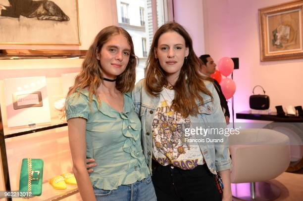 Dolores Dol and Juliette Dol attend Roger Vivier '#LoveVivier' Book Launch Cocktail on May 24 2018 in Paris France
