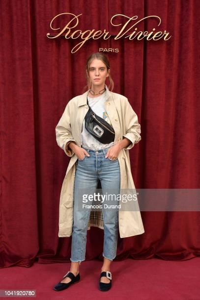 Dolores Dol attends the Roger Vivier Presentation Spring/Summer 2019 during Paris Fashion Week on September 27 2018 in Paris France