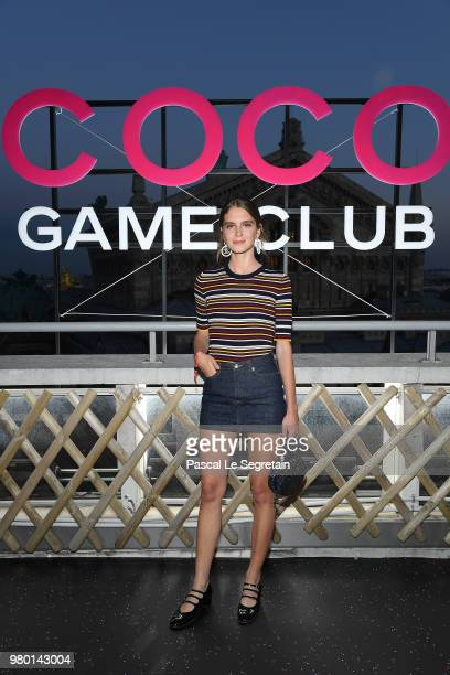 Dolores Doll attends Chanel's Coco Game Club event Photocall at Galeries Lafayette Haussmann on June 20 2018 in Paris France
