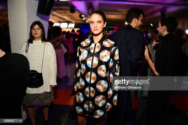Dolores Doll attends MOSCHINO [tv] HM Launch Party at Le Dernier Etage on November 6 2018 in Paris France