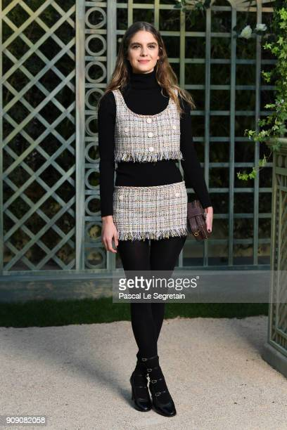 Dolores Doll attends the Chanel Haute Couture Spring Summer 2018 show as part of Paris Fashion Week on January 23 2018 in Paris France