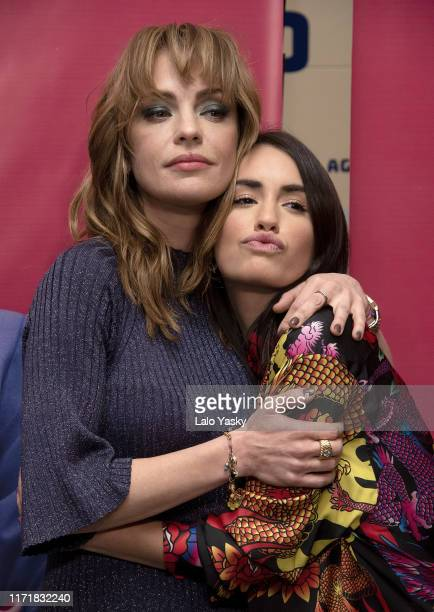 Dolores Fonzi and Lali Esposito pose during the premiere of 'Claudia' at the '25 de Mayo' theater on September 02 2019 in Buenos Aires Argentina