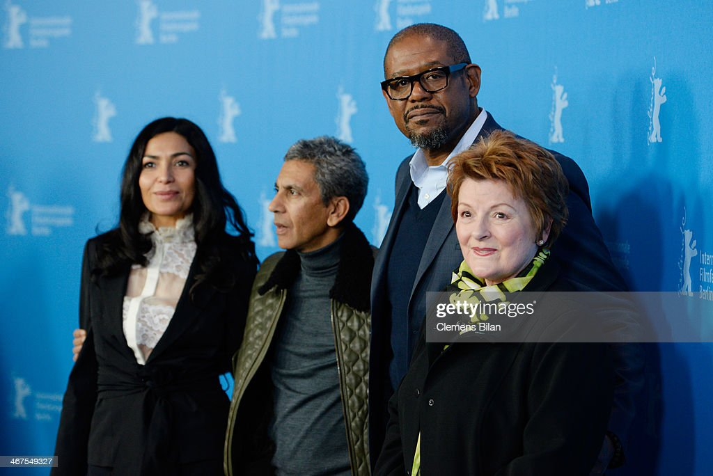 Dolores Heredia, Rachid Bouchareb, Forest Whitaker and Brenda Blethyn attend the 'Two Men in Town' (La voie de l'ennemi) photocall during 64th Berlinale International Film Festival at Grand Hyatt Hotel on February 7, 2014 in Berlin, Germany.