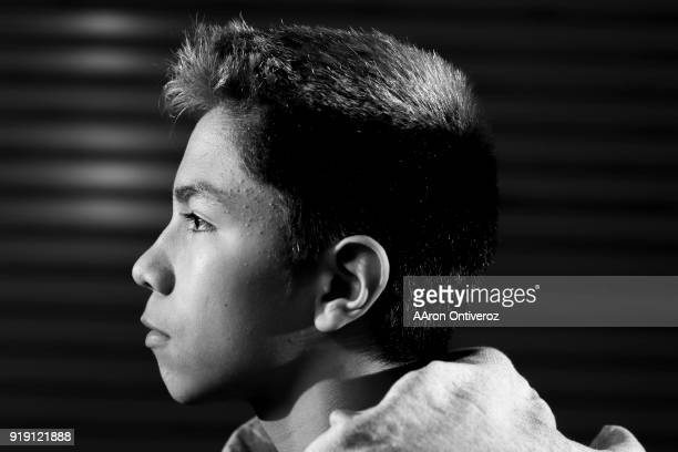 Dolores Huerta 113pounder Jose Garcia poses for a portrait during the Colorado High School State Wrestling Championships on Friday February 16 2018