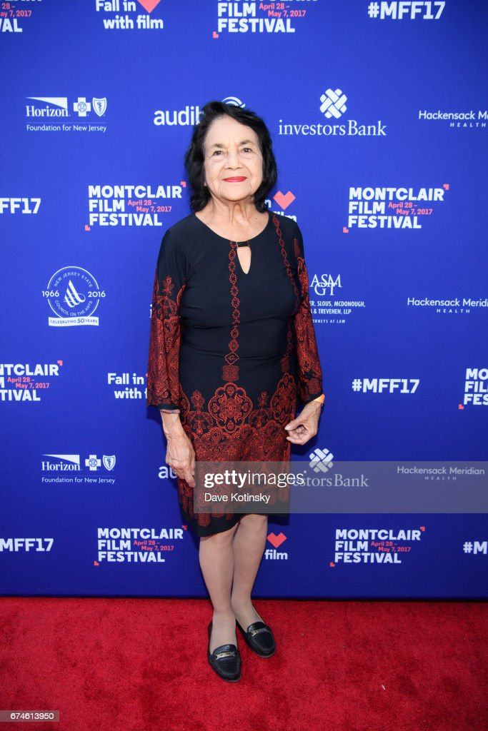 Dolores Huerta arrives at Montclair Film Festival 2017 Opening Night on April 28, 2017 in Montclair, New Jersey.