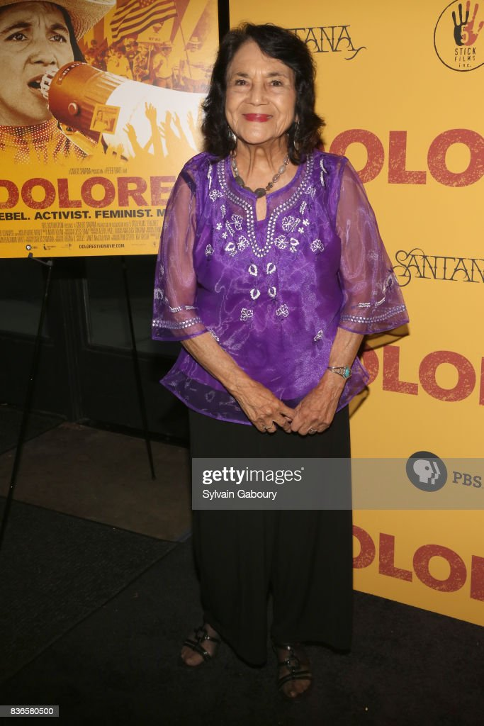 Dolores Huerta attends 'Dolores' New York Premiere at Metrograph on August 21, 2017 in New York City.
