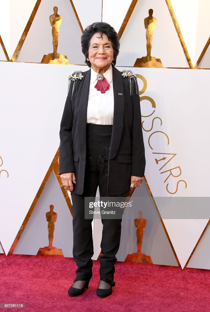 Dolores Huerta attends the 90th Annual Academy Awards at Hollywood & Highland Center on March 4, 2018 in Hollywood, California.