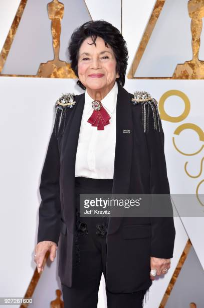 Dolores Huerta attends the 90th Annual Academy Awards at Hollywood Highland Center on March 4 2018 in Hollywood California