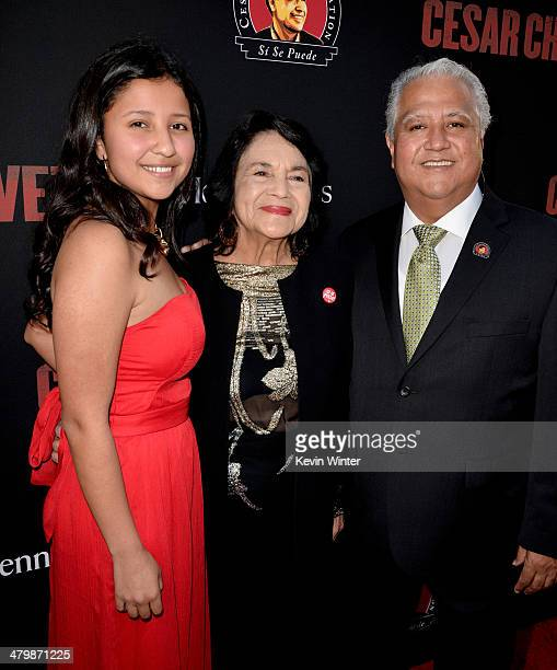 Dolores Huerta, Co-founder, United Farm Workers, Paul Chavez, President, Cesar Chavez Foundation and son of Cesar Chavez and his daughter Daniella...
