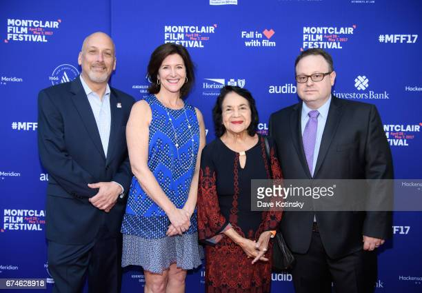 Dolores Huerta Founder and Chairman of the Board Bob Feinberg President of the Board Evelyn Colbert and Executive Director MFF Tom Hall arrive at...