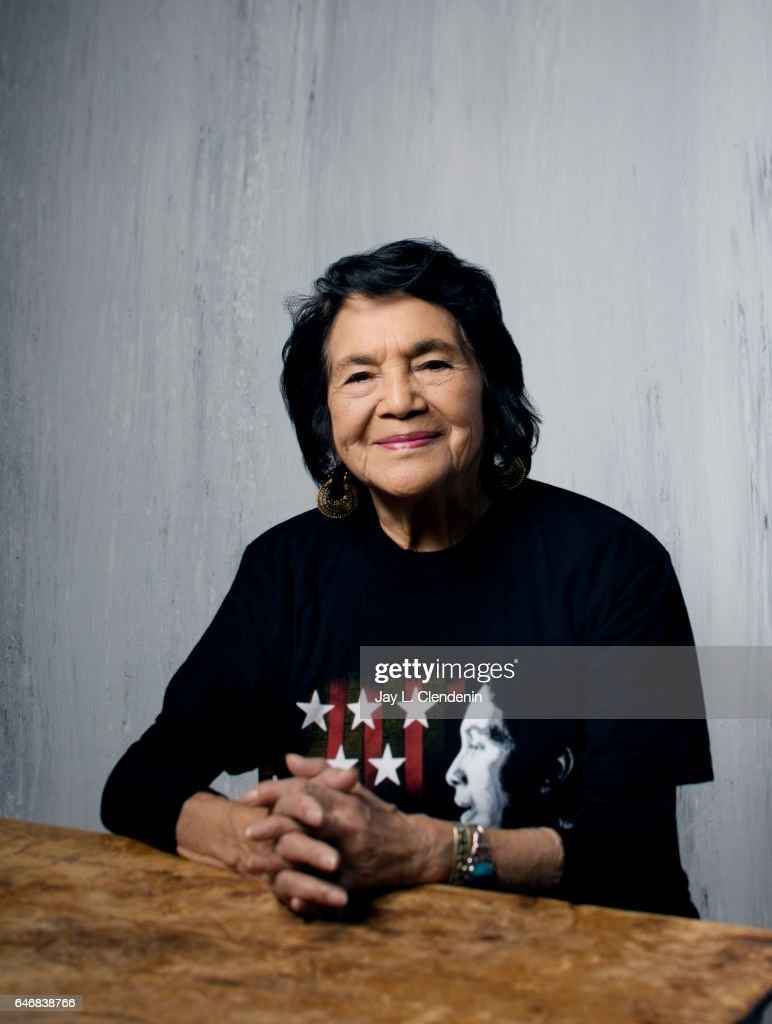Dolores Huerta, from the documentary film 'Dolores,' is photographed at the 2017 Sundance Film Festival for Los Angeles Times on January 20, 2017 in Park City, Utah. PUBLISHED IMAGE.