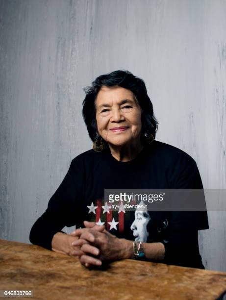 Dolores Huerta from the documentary film 'Dolores' is photographed at the 2017 Sundance Film Festival for Los Angeles Times on January 20 2017 in...