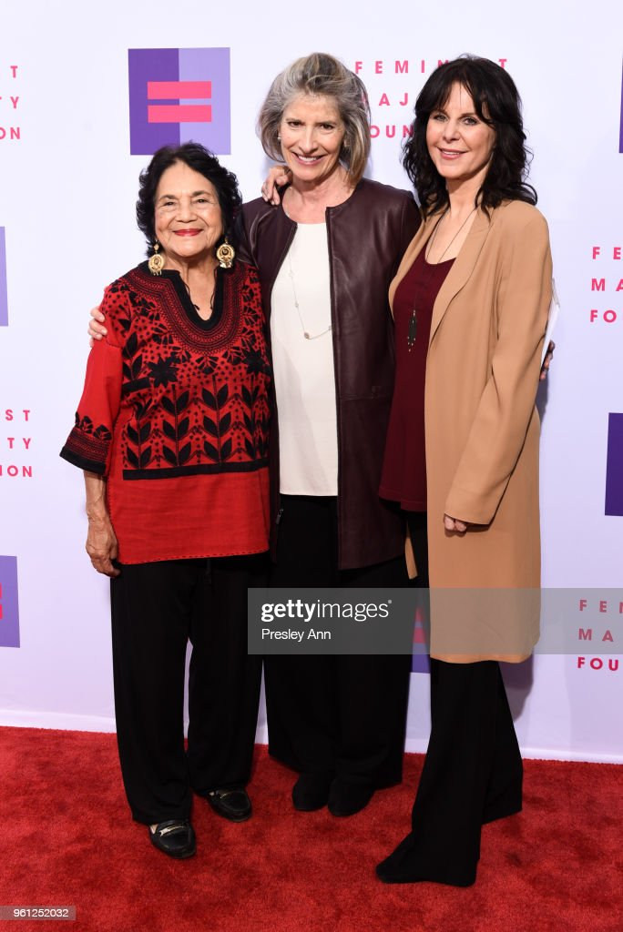 Dolores Huerta, Kathy Spillar and Mavis Leno attend 13th Annual Global Women's Rights Awards at Wallis Annenberg Center for the Performing Arts on May 21, 2018 in Beverly Hills, California.