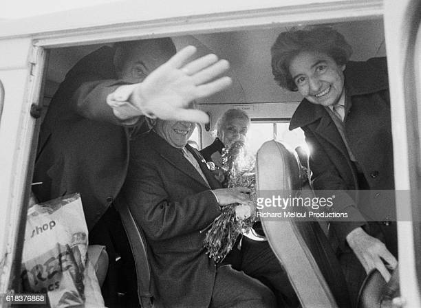 Dolores Ibarruri known as La Pasionaria arrives in Madrid from Moscow where she was exiled for 38 years One of the founders of the Spanish Communist...