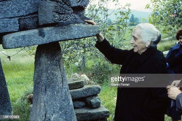 Dolores Ibarruri La Pasionaria in a village in Asturias Asturias Spain