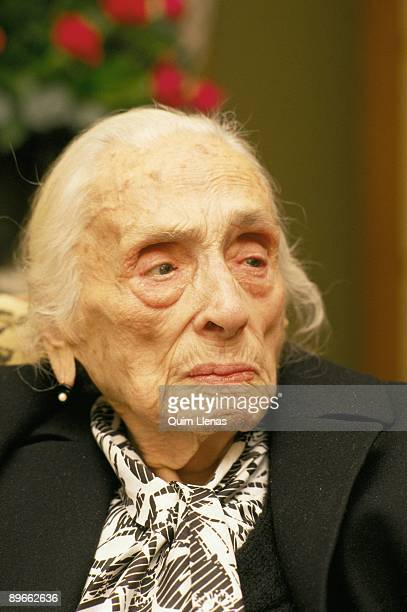Dolores Ibarruri ´The Pasionaria´ PCE historical leader At her 92th birthday