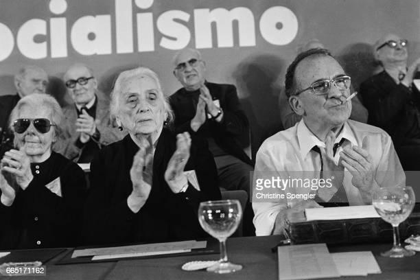 Dolores Ibárruri La Pasionaria and General Secretary Santiago Carillo   Location Madrid Spain