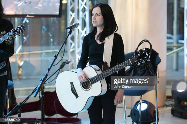 Dolores O'Riordan during Dolores O'Riordan Performs On Sunrise May 25 2007 at Channel 7 in Sydney NSW Australia