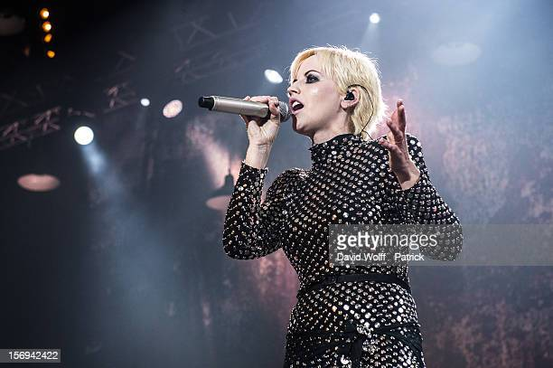 Dolores O'Riordan from The Cranberries performs at Le Zenith on November 25 2012 in Paris France