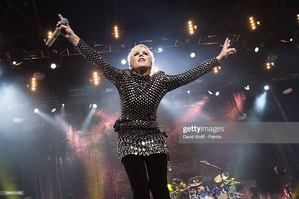 Dolores O'Riordan from The Cranberries performs at Le Zenith on November 25, 2012 in Paris, France.