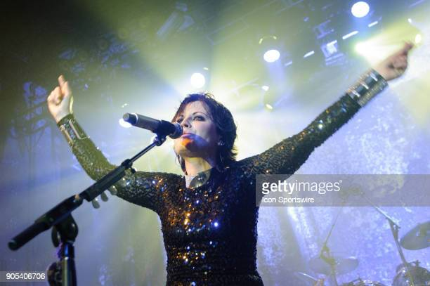 Dolores O'Riordan lead singer of popular rock band Cranberries performs during the Roses Tour at Sound Academy in Toronto ON Canada on May 9 2012...