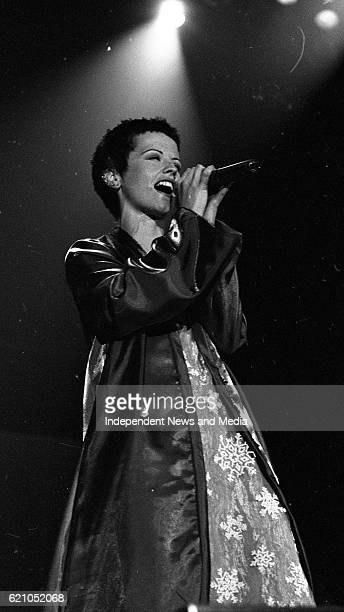 Dolores O'Riordan, Lead Singer of the Limerick Group, The Cranberries on stage in Dublin's Point Depot, .