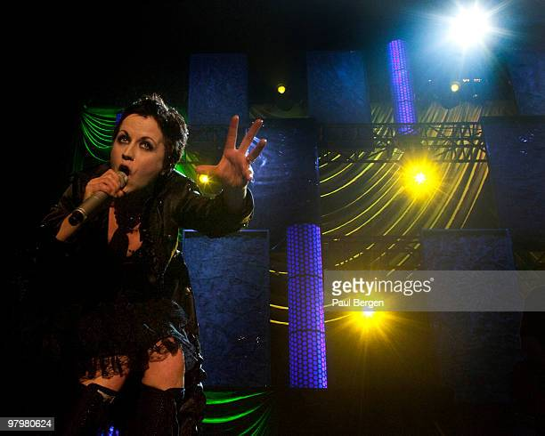 Dolores O'Riordan, of Irish rock band The Cranberries, performs on stage at Heineken Music Hall on March 23, 2010 in Amsterdam, Netherlands.