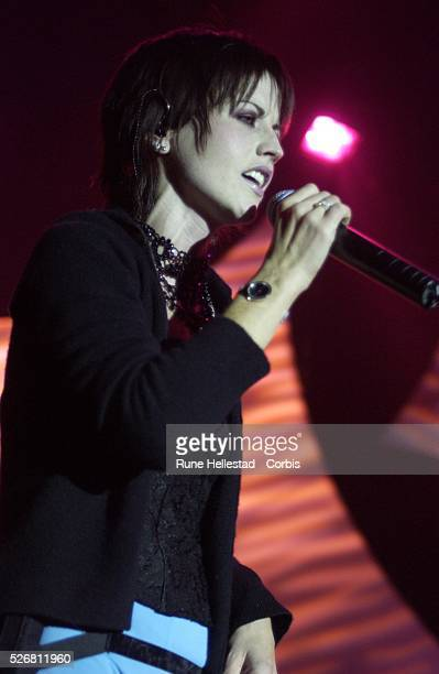 Dolores O'Riordan of the Cranberries on stage at the Hammersmith Apollo