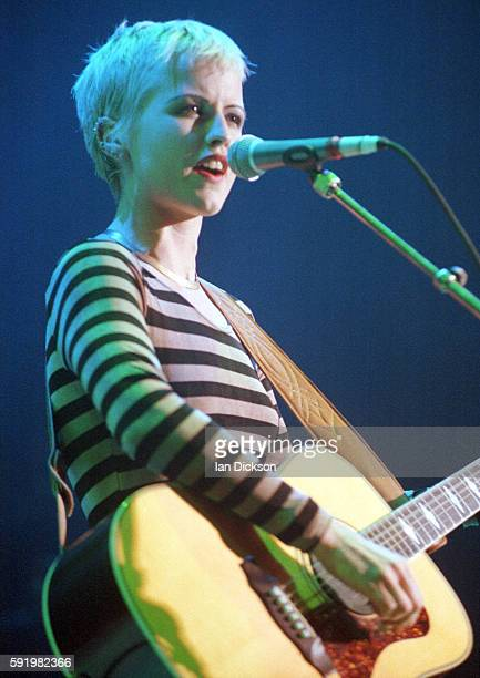 Dolores O'Riordan of The Cranberries performing on stage at Shepherds Bush Empire, london 16 October 1994.