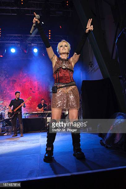 Dolores O'Riordan of The Cranberries performs at Kesselhaus on December 2 2012 in Munich Germany