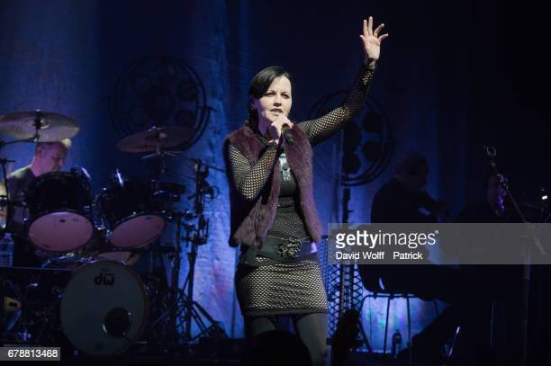 Dolores O'Riordan of The Cranberries performs at L'Olympia on May 4 2017 in Paris France