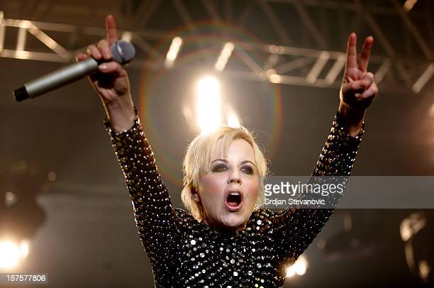 Dolores O'Riordan of The Cranberries performs at Sports Hall on December 4, 2012 in Belgrade, Serbia.