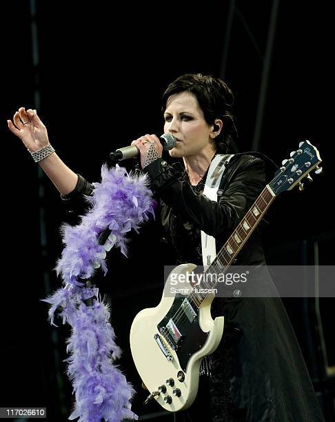 Dolores O'Riordan of The Cranberries performs at the Feis Festival in Finsbury Park on June 18 2011 in London England