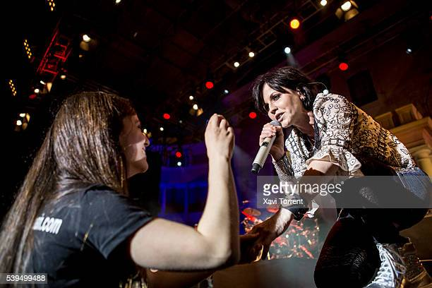 Dolores O'Riordan of The Cranberries performs in concert during Festival Jardins de Pedralbes on June 11 2016 in Barcelona Spain